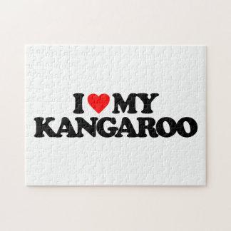 I LOVE MY KANGAROO JIGSAW PUZZLES