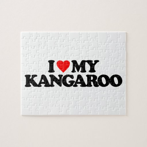 I LOVE MY KANGAROO JIGSAW PUZZLE