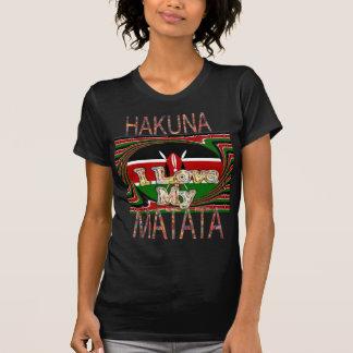 I Love My Kenya Hakuna Matata Black Red Green T-Shirt