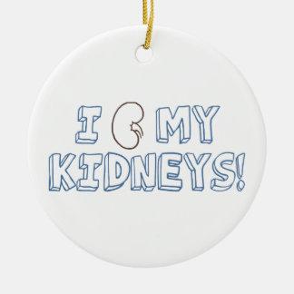 I Love My Kidneys Ceramic Ornament