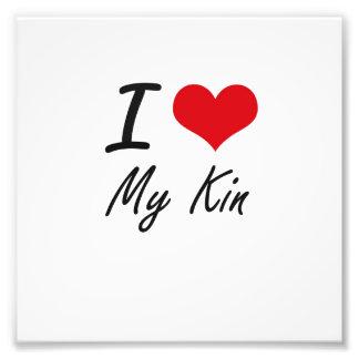 I Love My Kin Photo Print