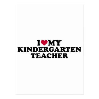 I love my kindergarten teacher postcard