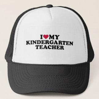 I love my kindergarten teacher trucker hat