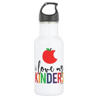 I Love My Kinders Water Bottle