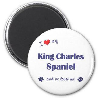 I Love My King Charles Spaniel Male Dog Refrigerator Magnet