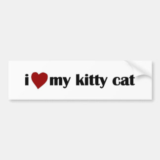 I Love My Kitty Cat Bumper Sticker