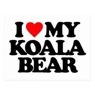 I LOVE MY KOALA BEAR POSTCARD