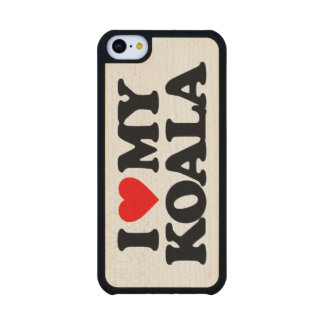 I LOVE MY KOALA CARVED® MAPLE iPhone 5C CASE
