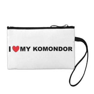 i love my komondor coin purse