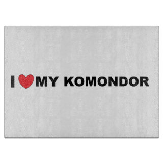 i love my komondor cutting board