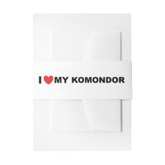 i love my komondor invitation belly band