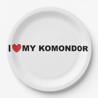i love my komondor paper plate