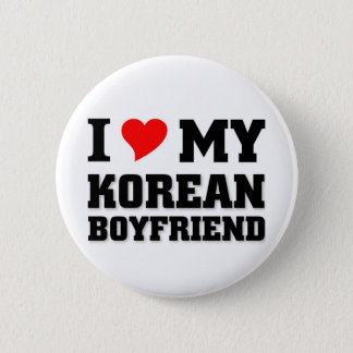 I love my Korean Boyfriend 6 Cm Round Badge