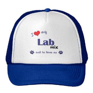 I Love My Lab Mix (Male Dog) Cap
