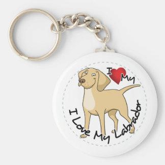 I Love My Labrador Dog Key Ring