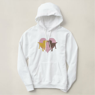 I Love My Labradors Embroidered Hoodies