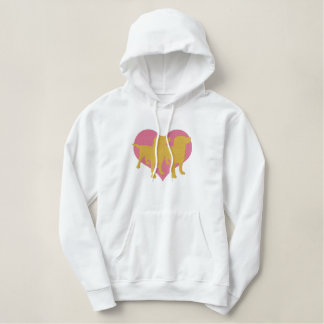 I Love My Labradors Embroidered Hoody