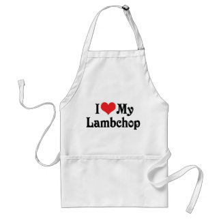 I Love My Lambchop Aprons
