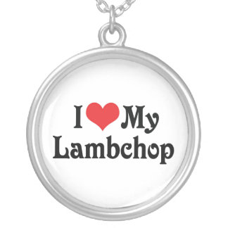 I Love My Lambchop Silver Plated Necklace