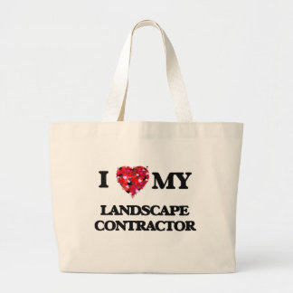 I love my Landscape Contractor Jumbo Tote Bag