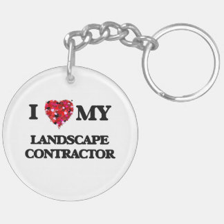 I love my Landscape Contractor Double-Sided Round Acrylic Key Ring