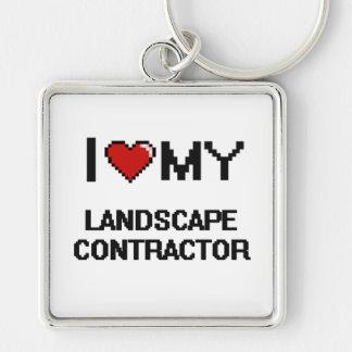 I love my Landscape Contractor Silver-Colored Square Key Ring