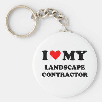 I Love My Landscape Contractor Keychain
