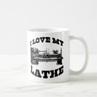 I Love My Lathe (as seen in Cuban Fury) Basic White Mug