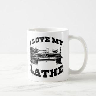 I Love My Lathe (as seen in Cuban Fury) Basic White Mug