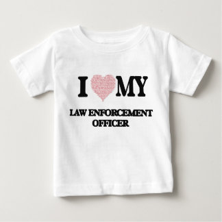 I love my Law Enforcement Officer (Heart Made from T Shirt