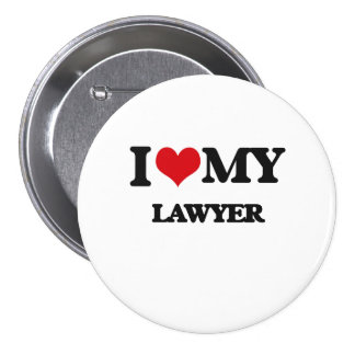 I love my Lawyer 7.5 Cm Round Badge