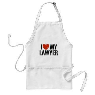 I Love My Lawyer Standard Apron