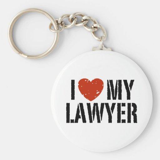 I Love My Lawyer Basic Round Button Key Ring