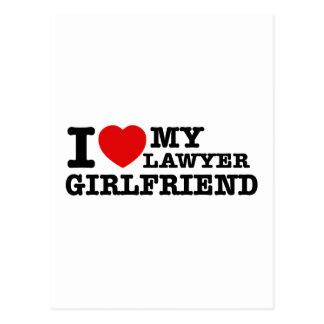 I love my Lawyer girlfriend Postcard