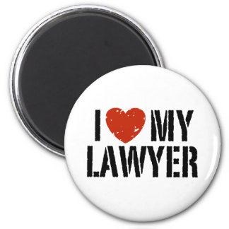 I Love My Lawyer 6 Cm Round Magnet