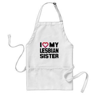 I LOVE MY LESBIAN SISTER -.png Aprons