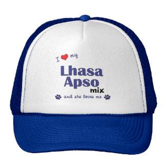 I Love My Lhasa Apso Mix (Female Dog) Cap
