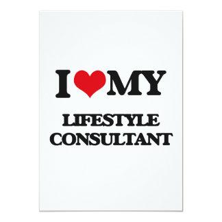 "I love my Lifestyle Consultant 5"" X 7"" Invitation Card"