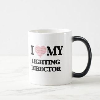 I love my Lighting Director (Heart Made from Words Morphing Mug