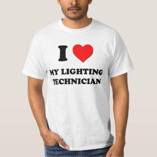I love My Lighting Technician Tee Shirt