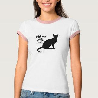 I Love My Little Black Cat T-Shirt