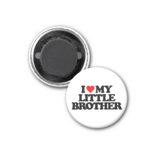 I LOVE MY LITTLE BROTHER 3 CM ROUND MAGNET