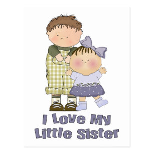 I Love My Little Sister Postcards Zazzle Au