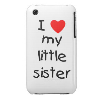 I Love My Little Sister iPhone 3 Case-Mate Cases
