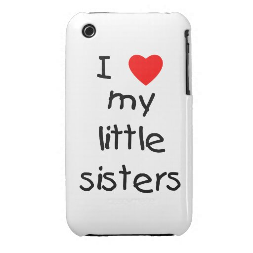 I Love My Little Sisters iPhone 3 Case-Mate Case