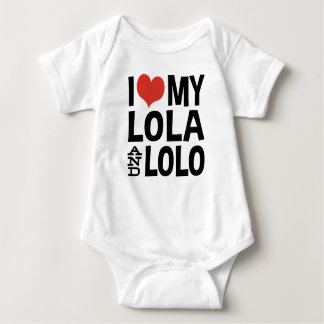 I Love My Lola and Lolo Baby Bodysuit