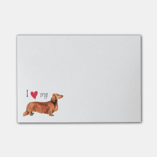 I Love my Longhaired Dachshund Post-it® Notes