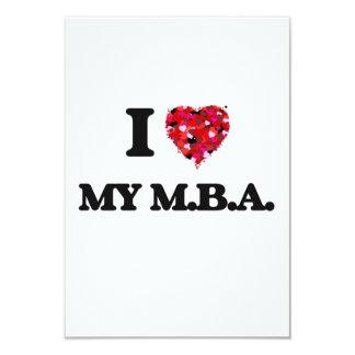 I Love My M.B.A. 9 Cm X 13 Cm Invitation Card