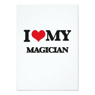 I love my Magician 13 Cm X 18 Cm Invitation Card
