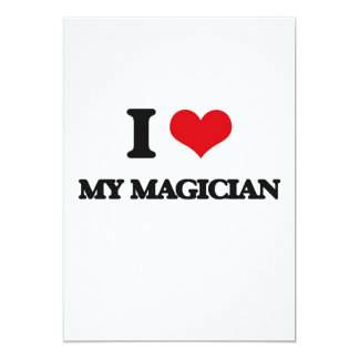 I Love My Magician Cards